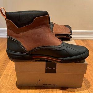Clark's Bowman Boot - Dark Brown. Waterproof